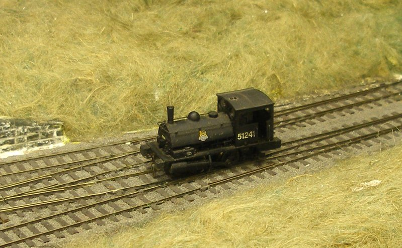 The Dapol Pug as seen at the 4mm scale Hall Royd Junction