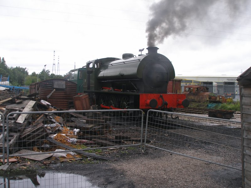 'Walkden' 0-6-0 ST is steamed at the Ribble Steam Centre in Preston.