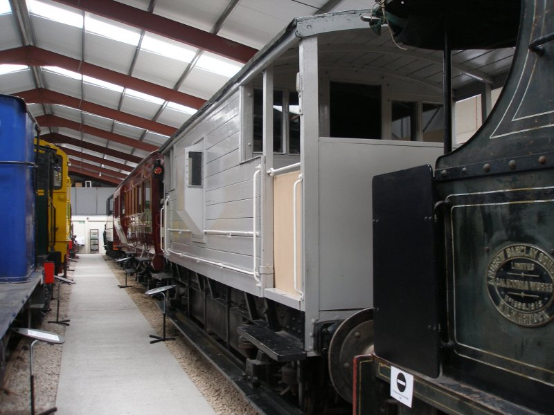 One of the two LMS brake vans acquired by Steamport Southport, and as seen at the Ribble Steam Centre, either QUEEN MARY BRAKEVAN 732386 1948 built BR Swindon or QUEEN MARY BRAKEVAN	731733	1943 BR Swindon