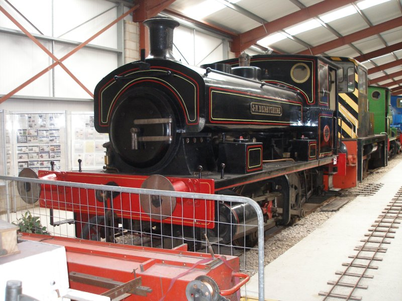 'J N Derbyshire' was built at the Caledonia works of Andrew Barclay & Sons in Kilmarnock, as seen at the Ribble Steam Centre.