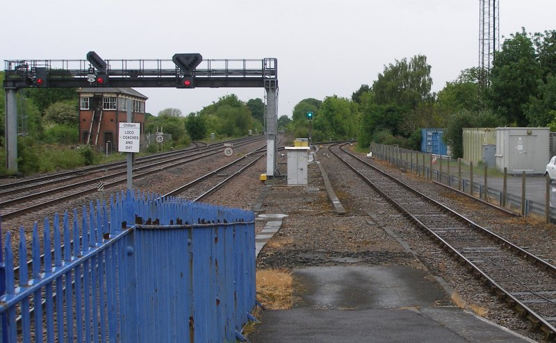 Prnces Risborough showing signal box and Aylesbury branch 18 May 2017