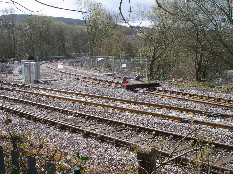 Stansfield Hall Junction 23 March 2014 with signal PN339 removed