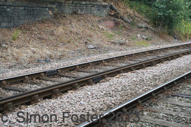 Footprint of Stansfield Hall Junction signal box 2013.