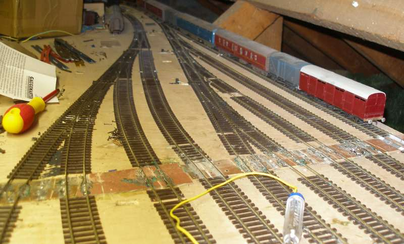 Hall Royd Junction storage yard showing new approachs