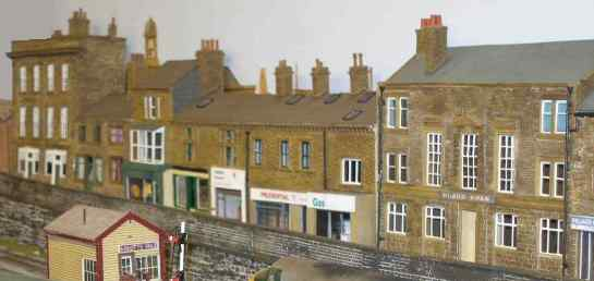Model of Burnley Road shops located on the 'Abbots Vale' layout
