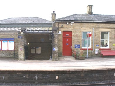 Todmorden Railway Station: Main station building, platform side, second section moving from east top west on 19 April 2013