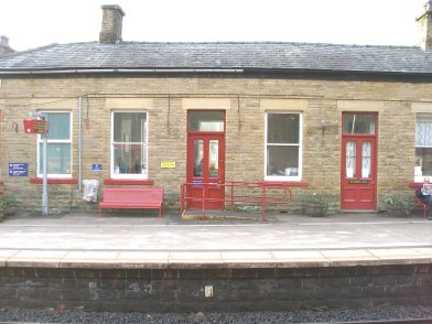 Todmorden Railway Station: Main station building, platform side, third section moving from east top west on 19 April 2013