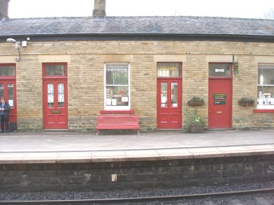 Todmorden Railway Station: Main station building, platform side, fifth section moving from east top west on 19 April 2013