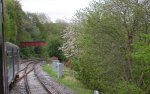 Thumbnail of the first train nosing onto the new Todmorden curve on Sunday 17 May 2015.