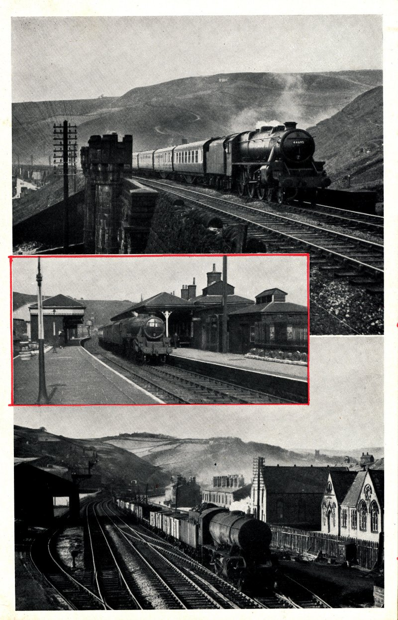 Trains Illustrated article Calder Valley main line December 1955.