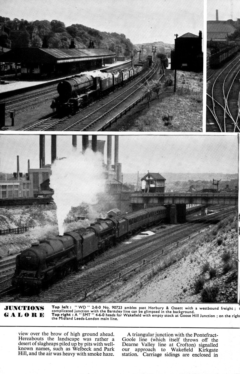 Trains Illustrated article Calder Valley main line November 1955.