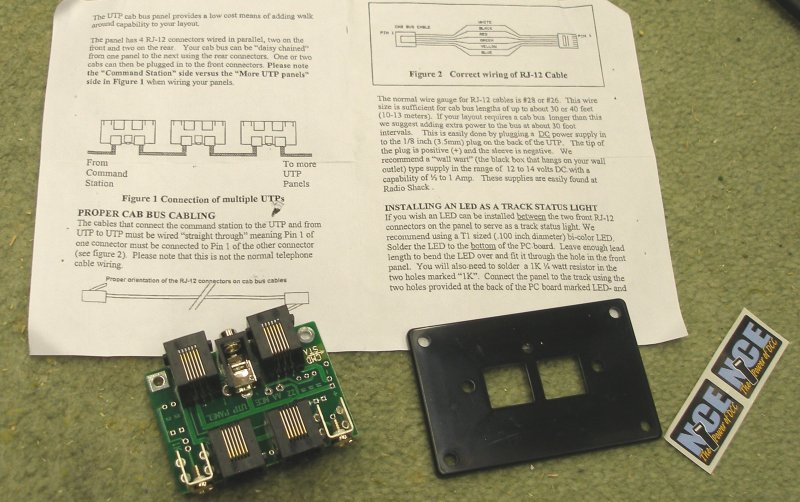 Clear instructions are provided with the NEC UTP module - but no wire!!