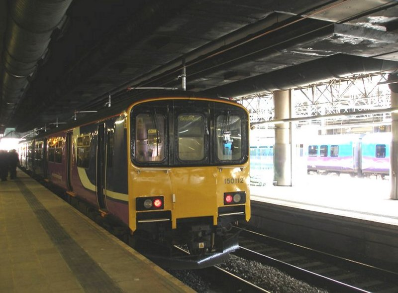 Manceshester Victoria 'Now' shot of Southport train on Platform 6 as captured on 11 April 2015.