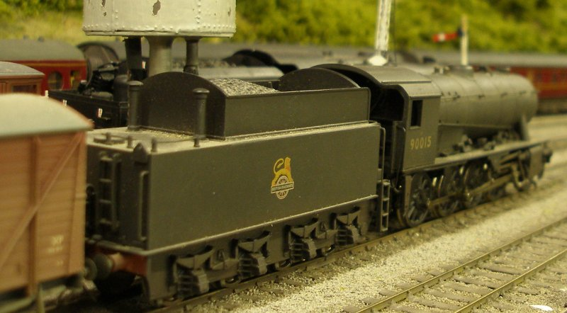 Bachmann WD 2-8-0 without fire iron rack fitted to tender