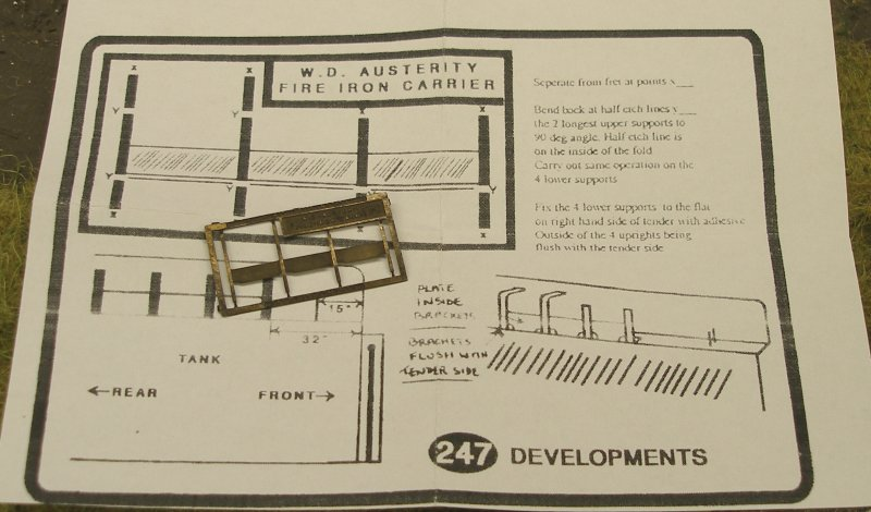 247 Developments WD 2-8-0 fire iron etch and instructions