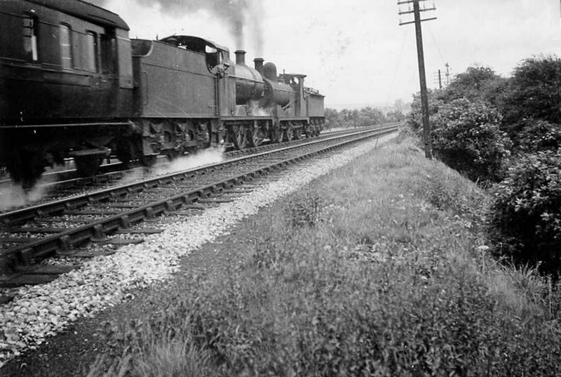 0-6-0s working a passenger train at Towneley on the Copy Pit line c. 1937