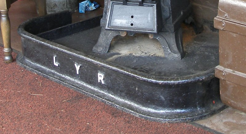 L&YR stove fender as seen in Llanuwchllyn signal box 16 July 2015