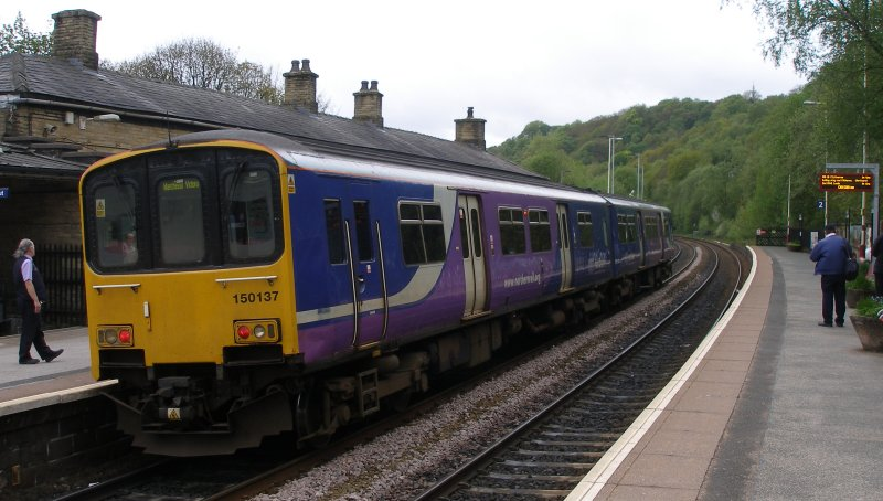 First train on Todmodern curve arrives at Todmorden