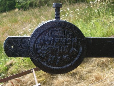 Restored Lancashire & Yorkshire Railway signal balance weight painted black.
