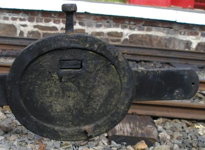 Restored Lancashire & Yorkshire Railway signal balance weight.